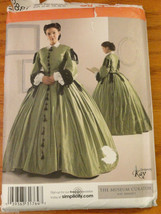 Simplicity Pattern Misses 1860s Civil War Southern Belle size 8 10 12 14 2887 KK - $15.00