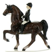 Hagen Renaker Specialty Horse Dressage with Rider Ceramic Figurine image 7