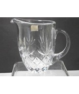 Signed Lenox HAND Cut glass Charleston Crystal pitcher Made in USA - $36.47