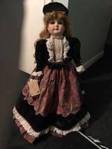 """Goebel 1992 Betty Jane Carter Isabelle Musical BIG 26"""" Porcelain Doll - $65.00"""