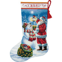 """Dimensions Gold Collection Counted Cross Stitch Kit 16"""" Long-Holiday Glow Stocki - $53.51"""