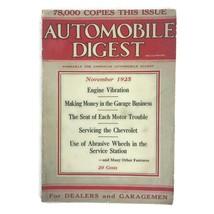 Vintage November 1925 Automobile Digest Magazine Cars Chevrolet Repair E... - $23.33