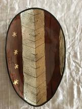 """HUGE 20"""" Vtg Ed's CALIFORNIA CERAMIC  MID CENTURY MCM Shield egg shape P... - $44.55"""