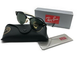 Ray-Ban Clubround Double Bridge Sunglasses RB4346 901 Black Frame/G-15 Lens 51mm - $106.67