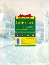 "Seasonal Stationery: GeoWinter by GeoGraphics - x100 8 1.2"" x 11"", 216mm... - $4.95"