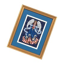 Dimensions Gold Collection Counted Cross Stitch Kit, Angel, 18 Count Navy Aid - $26.99