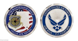 "Nellis Air Force Base 57TH Maintenance Group 1.75"" Challenge Coin - $16.24"