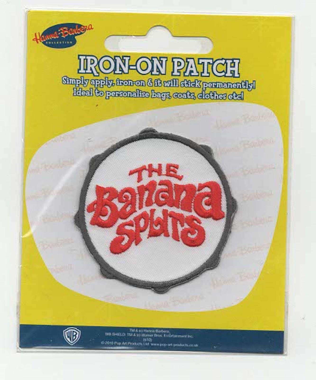 the banana splits  embroidered iron / sew on patch sealed pack from the 1970s ba