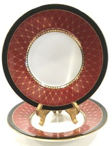 "Fitz and Floyd Chaumont Cinnabar 5-1/2"" Saucer Set of 2 - $387,62 MXN"