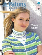 Patons Classics TWIN SETS to Knit Knitting Patterns #953 4 Different Set... - $9.83 CAD