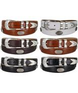 "Silverwood - Italian Calfskin Genuine Leather Golf Concho Belt, 1-1/8"" Wide - $39.95"