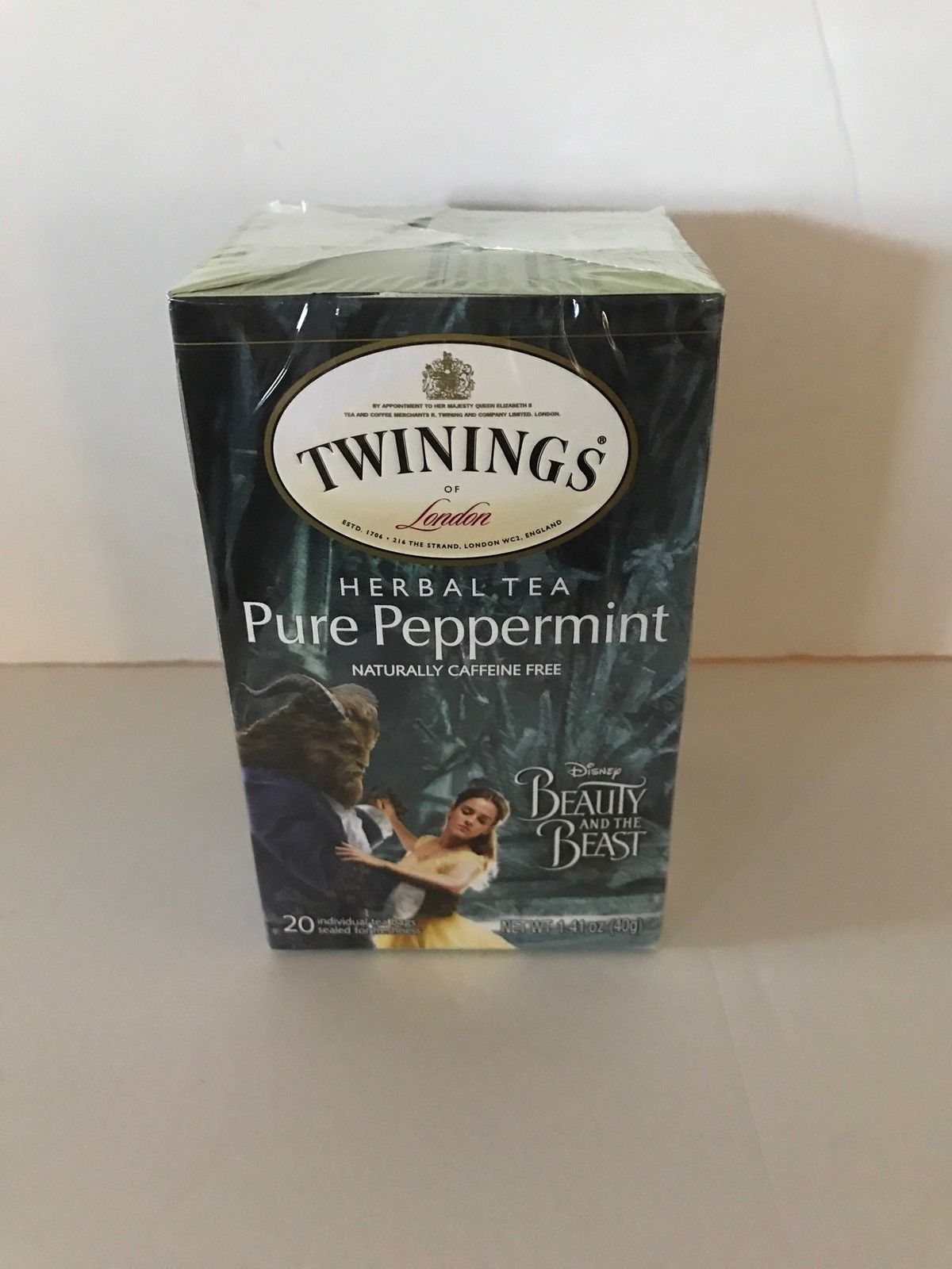 Disney Beauty & the Beast Pure Peppermint Twinings 20 Tea Bags New with Box