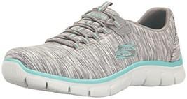 Skechers Sport Women's Empire Fashion Sneaker (9|Gray/Light Blue) - £67.89 GBP
