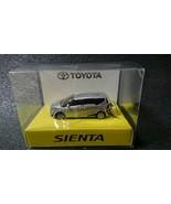 TOYOTA SIENTA White Silver Pull Back Mini Car LED Light Key Chain - $30.58