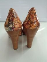 Peep In Size Slide Patent Leather Orange NAUGHTY 6 Toe Brown Heels B2766 MONKEY qaxpWw8X