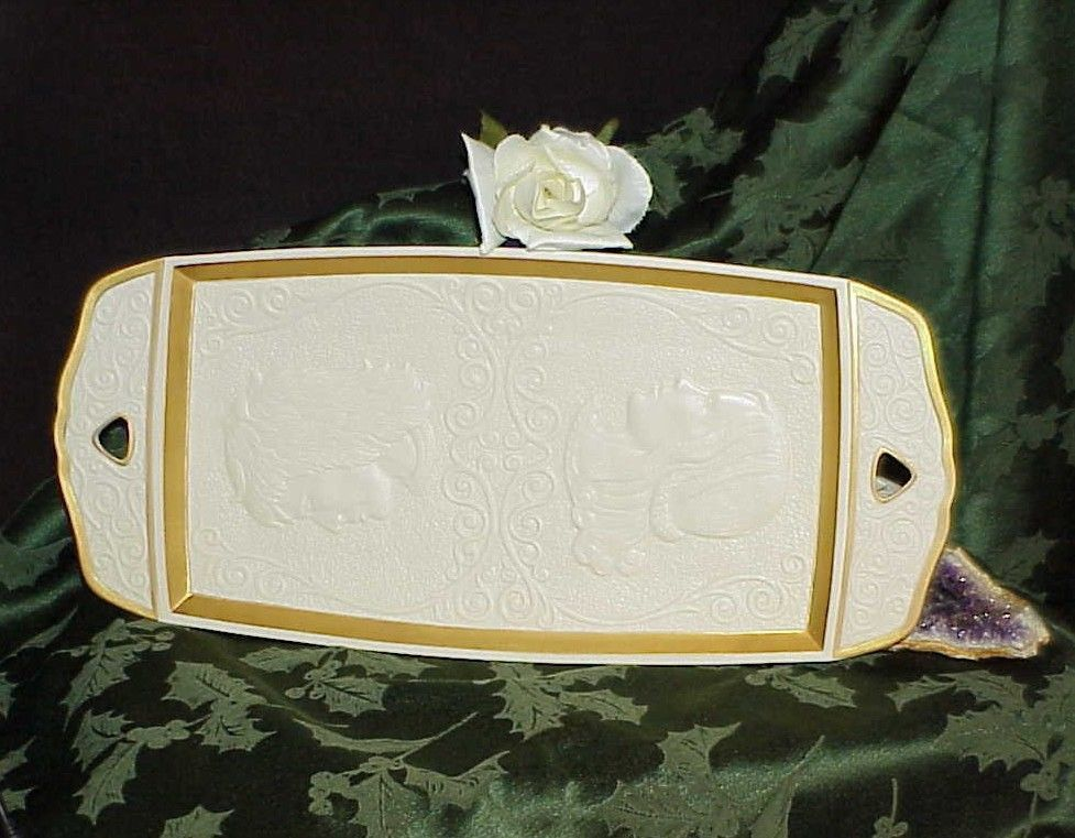 Vintage Lenox Romeo and Juliet Porcelain Tray Artist Laszlo Ispanky #1569 Gilded