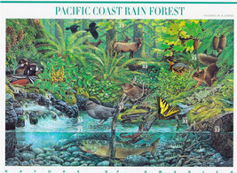 Nature In America USPS Stamps Sheet MNH Scott 3378 Pacific Rain Forest 1... - $9.87