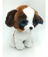 "Ty Beanie Boo Duke St Bernard Plush Puppy Dog Medium 9"" Brown White Blue... - $6.99"
