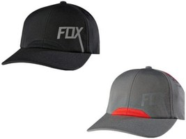 NEW AUTHENTIC FOX RACING MEN'S TRUCKER ADJUSTABLE GRAY BLACK MIXED ACTIV... - $24.29