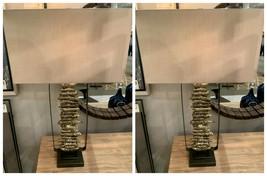 "TWO URBAN MODERN ARISA XXL 34"" LODGE DECOR BROKEN BRANCH STYLE TABLE LAMPS  - $567.60"