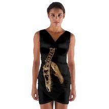 tunic top wrap dress fossil t-rex tyrannosaurus rex  club sleeveless hot sexy  - $36.00 - $42.00