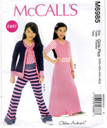 McCall's M6985 Girls Plus Top Skirt Pant Sewing Pattern Child Size 10 1/... - $6.45