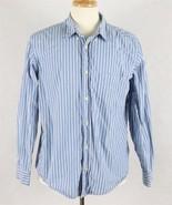 Old Navy Mens Blue Vintage Fit Striped Shirt Size Large - $12.86