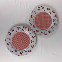 Lot of 2 Cherries Jubilation Salad Plates Pat Olson D&CC 2002 - $24.26