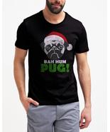 Funny Christmas Men T-Shirt Bah Hum Pug Shirt Santa Claus - $17.99