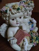 Twin Cherub Angel's Heavy Resin Music Box image 3