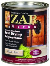 Zar Ultra 1QT Klar Glanz Öl Fast Trocken Polyurethan 34012 United Gilsonite Lab