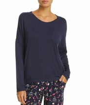 Jane & Bleecker Women's New York Long Sleeve Scoop Neck T-Shirt Tee Navy... - $19.59