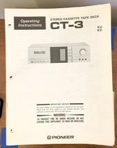 Pioneer CT-3 Cassette  Owners / Operating Manual *Original* - $12.17