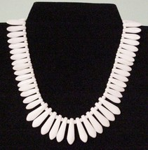 Gorgeous Bold White Choker Lucite? Plastic Necklace Signed Germany - $19.95