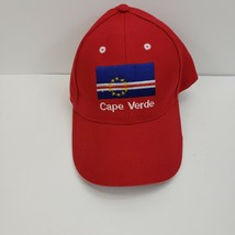 Cape Verde Red Baseball Hat / Cap Adjustable - $8.99