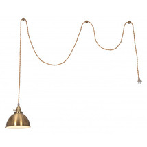Zuo Oscar Modern Gold Plated Braided Wire Ceiling Lamp - Brass - $140.00