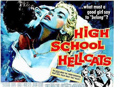 Primary image for High School Hellcats - 1958 - Movie Poster