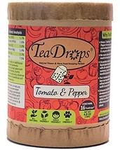 TeaDrops Organic Tomato + Pepper + Eggplant Fertilizer – 16 Liquid Vegetable Pla - $51.59