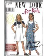 6485 Vintage non Découpé New Look Patron Couture 4 5 6 7 8 9 Filles Chem... - $4.83