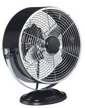 DecoBreeze Black Metallic Retro Swivel Fan DBF6156 - $75.00