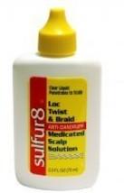 Sulfur8 Twist & Braid Anti-Dandruff Medicated Scalp Solution, 2.5 oz Pack of 3