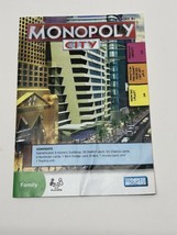 Monopoly City Board Game 2009 Instructions Booklet Replacement Rules Book - $7.87