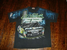 Vintage Carl Edwards Aflac Nascar Racing All Over Print T Shirt XL  - $24.74