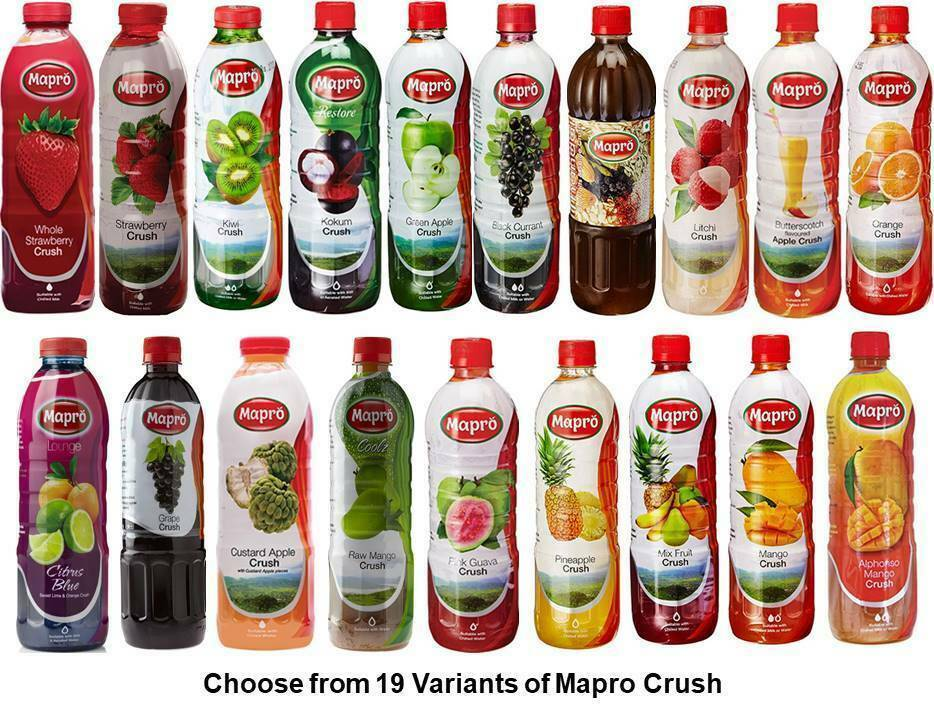 Primary image for Mapro Crush Choose from 19 Variants Drink Liquid Concentrate from India