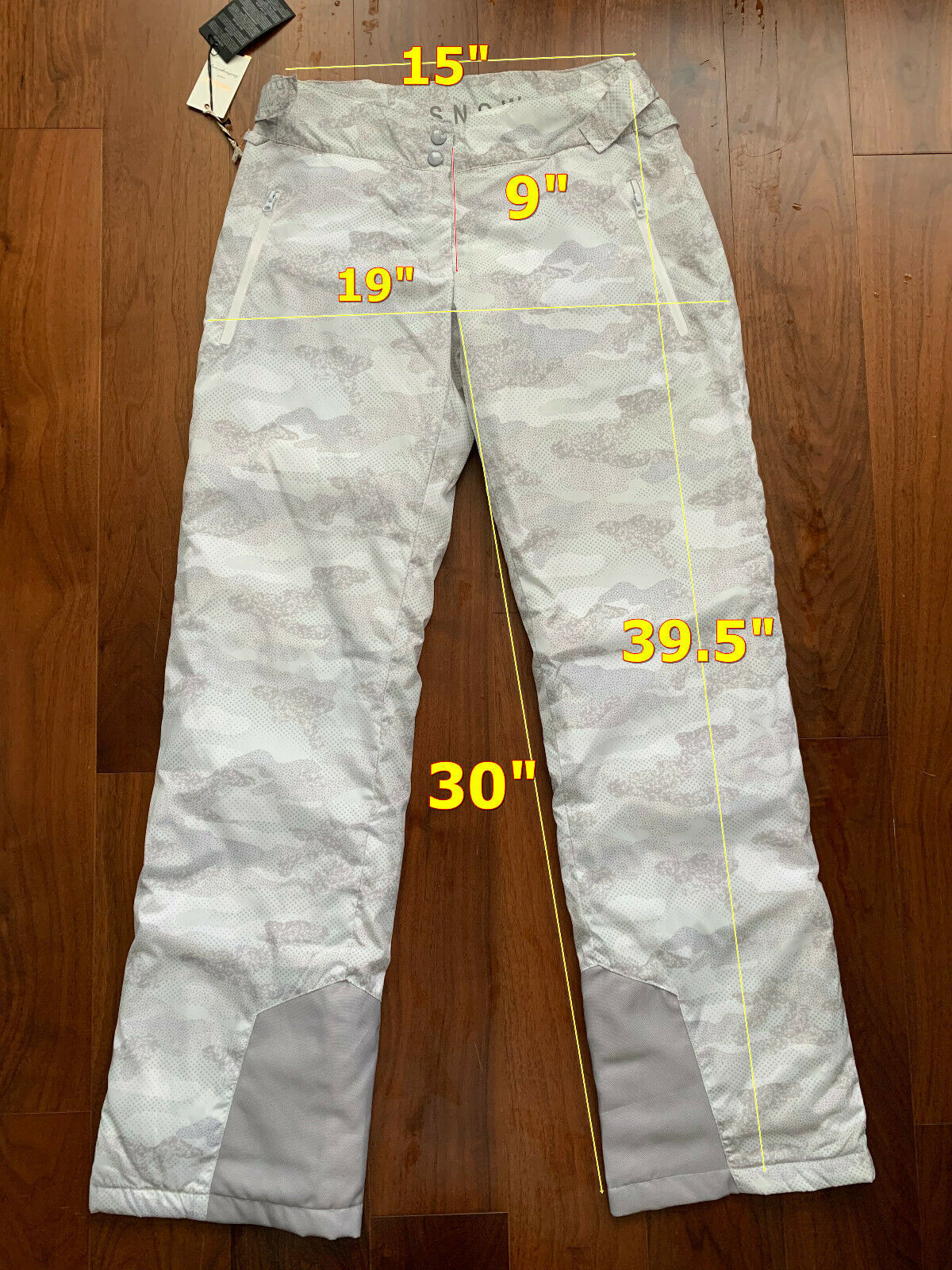 Women Snow Ski Snowboard Winter Wind Protect Waterproof Polyester  Pant Gray S