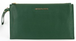 Michael Kors Bedford Moss Green Leather Clutch Wristlet Bag RRP £90 - $91.59