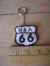 Beaded Key Chain - Route 66 - Travel - Open Road - Lot of Four (4) - $17.81