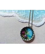 3D One-Of-A-Kind Beachy Bottle Cap Necklace (Rainbow) - $6.00