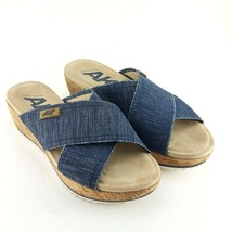 Anne Klein Sport Sandals In Denim in Women Size 5.5 M - $25.34