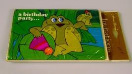 American Greetings Vintage Children Kid Birthday Party Invitations Sealed Frog - $9.99